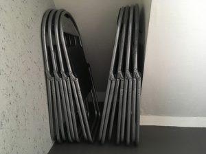 パイプ椅子(8脚)無料♪