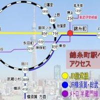 錦糸町駅 総武線 横須賀線 半蔵門線 map